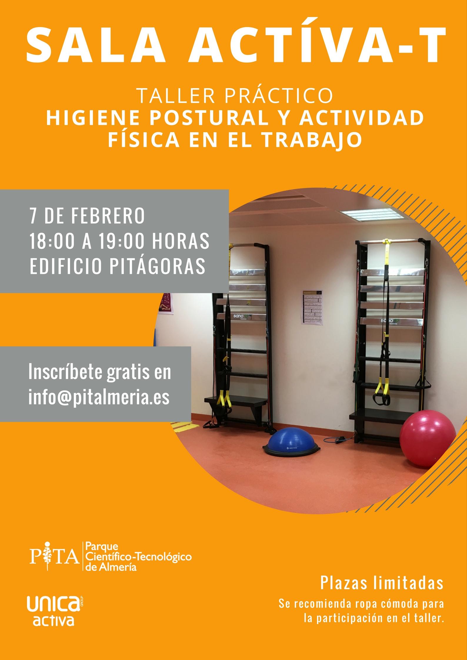 Taller higiene postural y actividad física en el trabajo, PITA, Unica Group