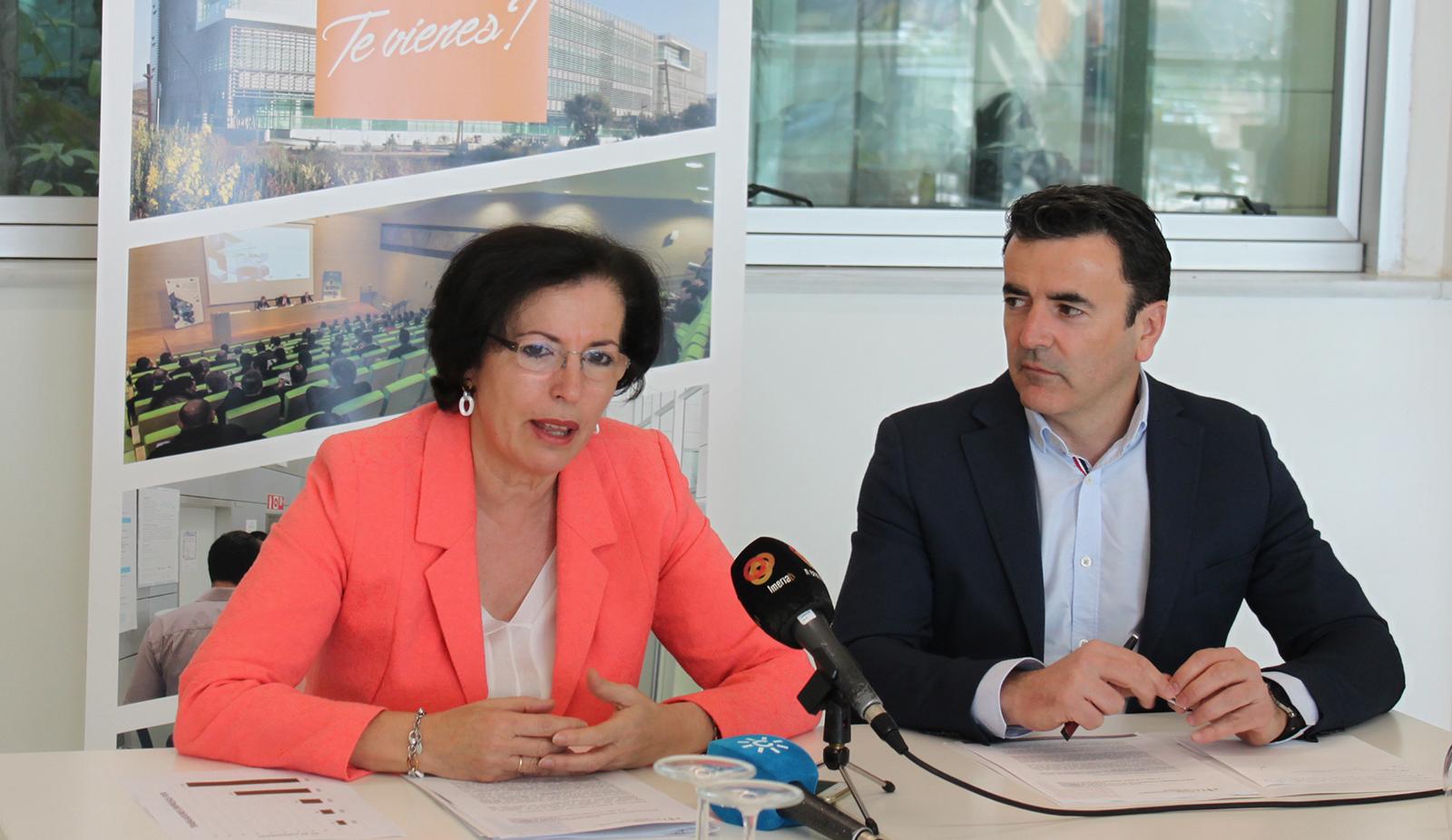 Gracia Fernandez y Antonio Domene, presentacion balance anual PITA