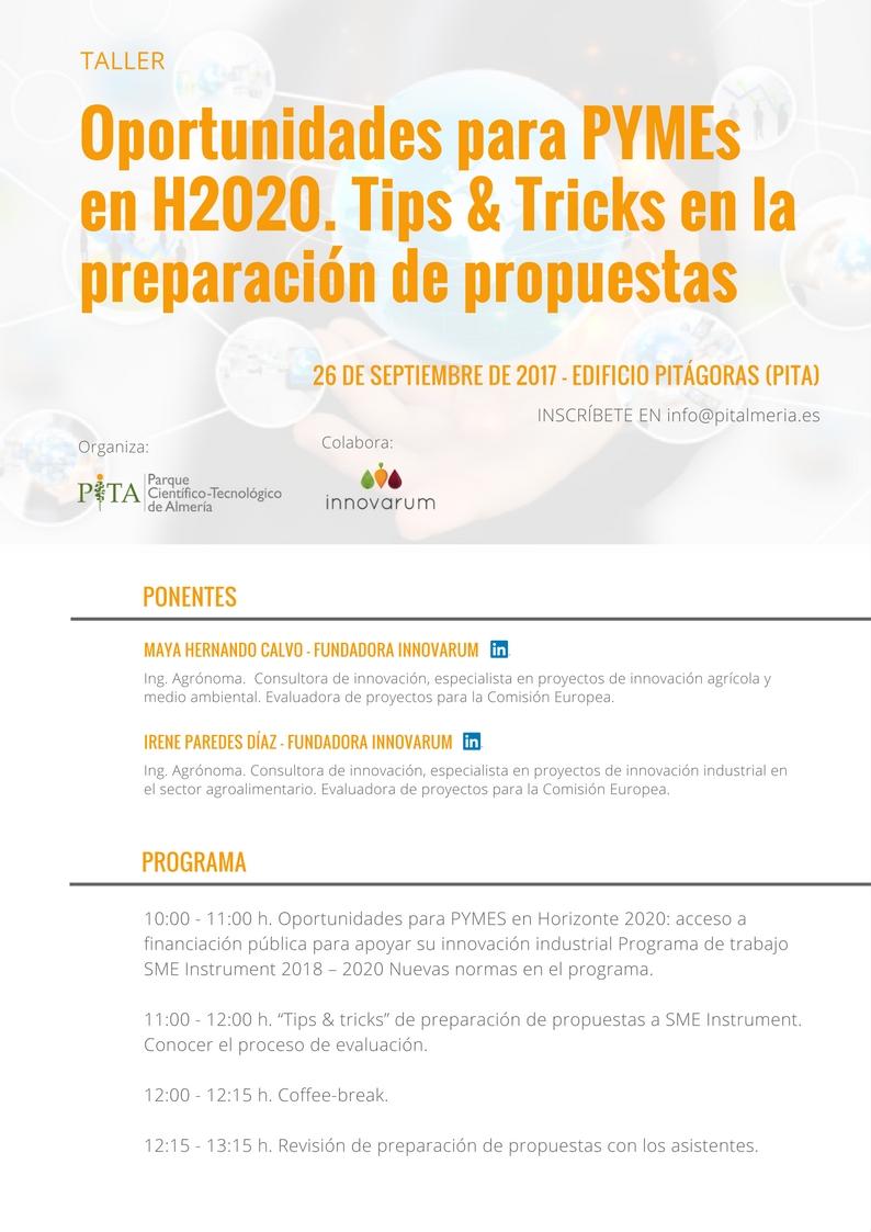 TIPS & TRIKS TALLER H2020